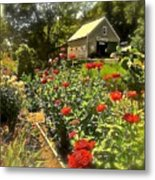 Indian Summer Garden Metal Print