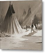 Indian Tee Pee Metal Print