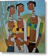 Indian Tribal  Metal Print