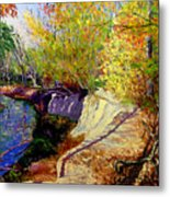 Indiana Creek Bank Metal Print
