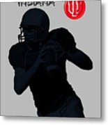 Indiana Football Metal Print