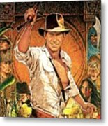 Indiana Jones Raiders Of The Lost Ark 1981 Metal Print