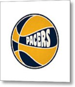 Indiana Pacers Retro Shirt Metal Print