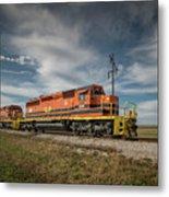 Indiana Southern Railroad Locomotives At Edwardsport Indina Metal Print