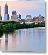 Indianapolis At Dusk Metal Print