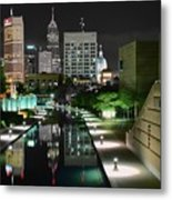Indianapolis Canal Night View Metal Print