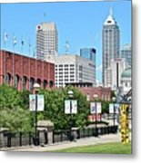 Indianapolis From The Park Metal Print