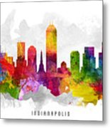 Indianapolis Indiana Cityscape 13 Metal Print