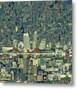Indianapolis Skyline Abstract 3 Metal Print