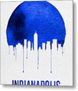 Indianapolis Skyline Blue Metal Print