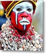 Indigenous Woman L B Metal Print