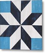 Indigo And Blue Quilt Metal Print