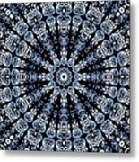 Indigo Flow Blue Kaleidoscope Metal Print