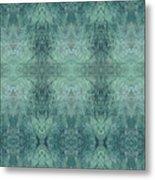 Indigo Lotus Lace Pattern 1 Metal Print