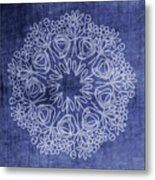 Indigo Mandala 1- Art By Linda Woods Metal Print