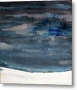 Indigo Winter Night Metal Print
