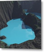 Indonesian Crater Lakes Metal Print