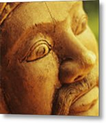 Indonesian Wood Carving Metal Print