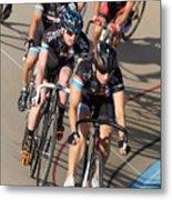 Indoor Bike Race Metal Print