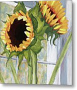 Indoor Sunflowers II Metal Print