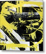 Industrial Abstract Painting I Metal Print