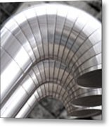 Industrial Air Ducts Metal Print