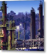 Industrial Archeology Refinery Plant 08 Metal Print