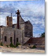 Industrial Cement Factory Metal Print