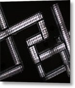 Industrial Geometric Design Metal Print