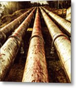 Industrial Hydro Architecture Metal Print
