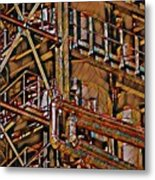 Industrial Storage And Distribution System Metal Print