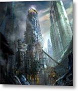 Industrialize Metal Print by Philip Straub