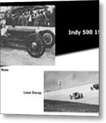 Indy 500 1928 Sam Ross And Leon Duray Metal Print