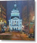 Indy Government Night Metal Print