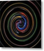 Infinite, Ever Expanding Image. Colorful And Classic Spiral Digital Art That Can Enhance Your Mood. Metal Print