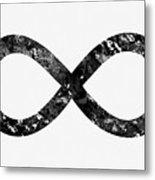 Infinity Symbol-black Metal Print