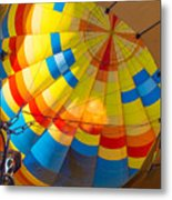 Inflating The Balloon Metal Print
