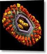 Influenza Virus Cutaway 5 Metal Print by Russell Kightley