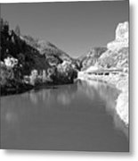 Infrared Black And White Metal Print