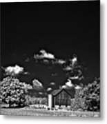 Infrared Farm Metal Print