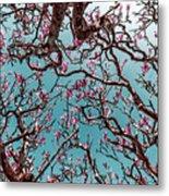 Infrared Frangipani Tree Metal Print