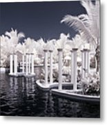Infrared Pool Metal Print