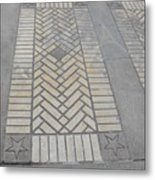 Inlayed Brick Walk Metal Print