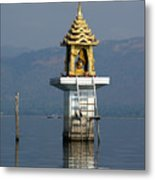 Inle Lake Temple Metal Print