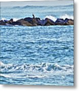 Inlet Waves Metal Print