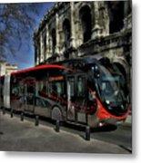 Inner City Tram Metal Print
