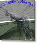 Inner Squirrel Art #1 Metal Print