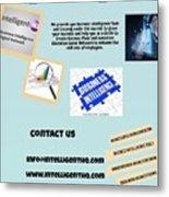 Innovation Social Business Network Metal Print