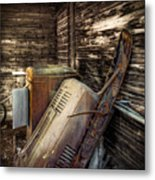 Inside Barn Metal Print