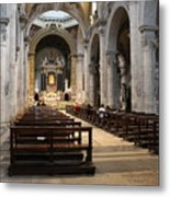 Inside Beautiful Church In Rome Metal Print